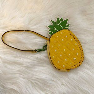 TORY BURCH Pineapple Coin Pouch FOB Key Ring Wrist